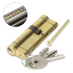 FortXLocks Anti-Snap Euro-Cylinder 6 Pin Brass Door Lock