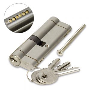 FortXLocks Anti-Snap Euro-Cylinder 6 Pin Nickle Door Lock